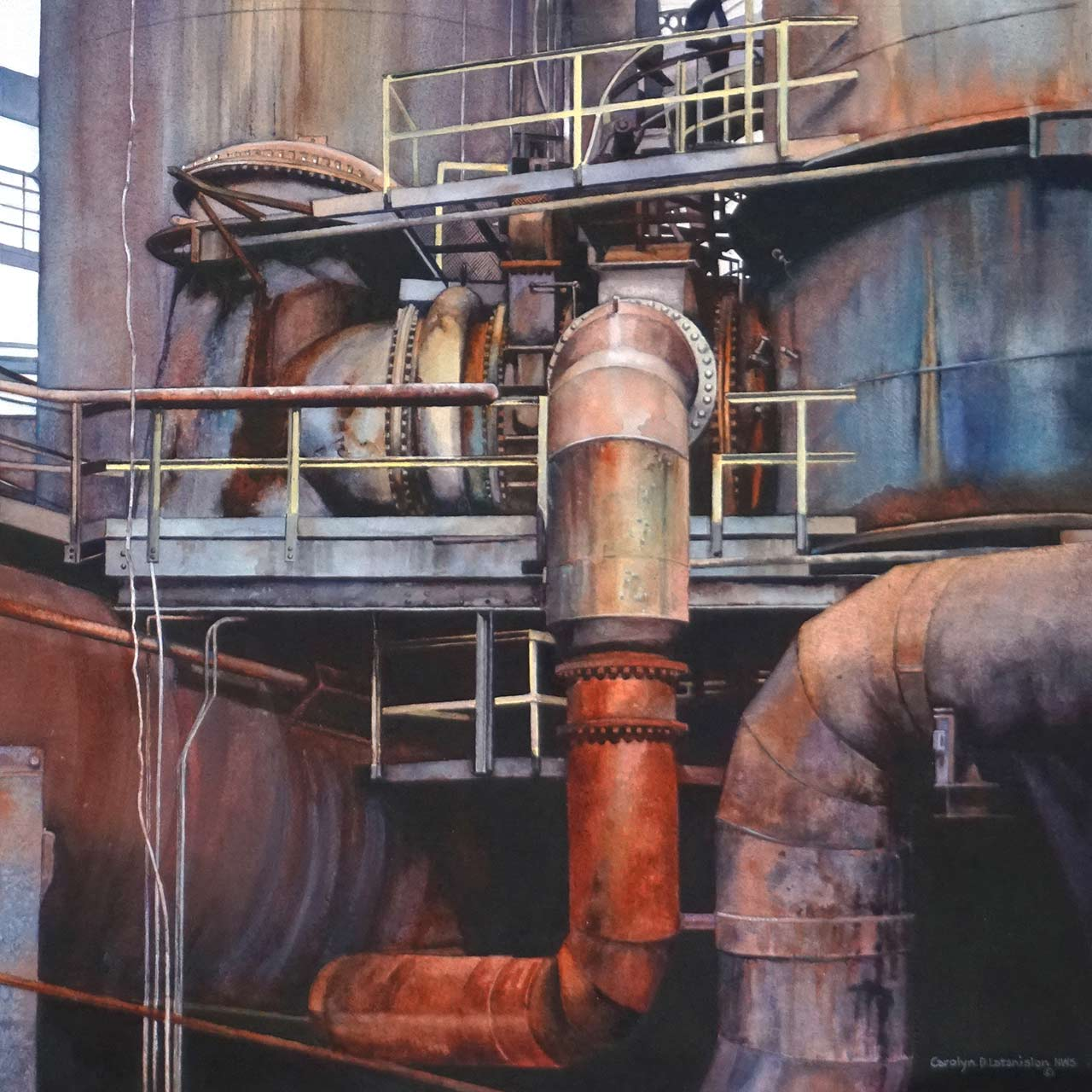 Blast Furnace Stove Air Valve | 21 x 21 watercolor