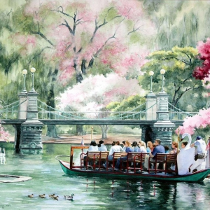 Boston Swan Boats | 21 x 29 watercolor SOLD