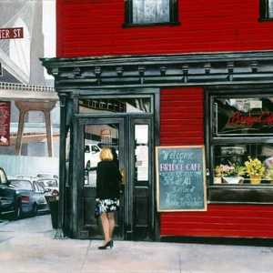 Bridge Café at the Brooklyn Bridge | 22 x 29 watercolor SOLD