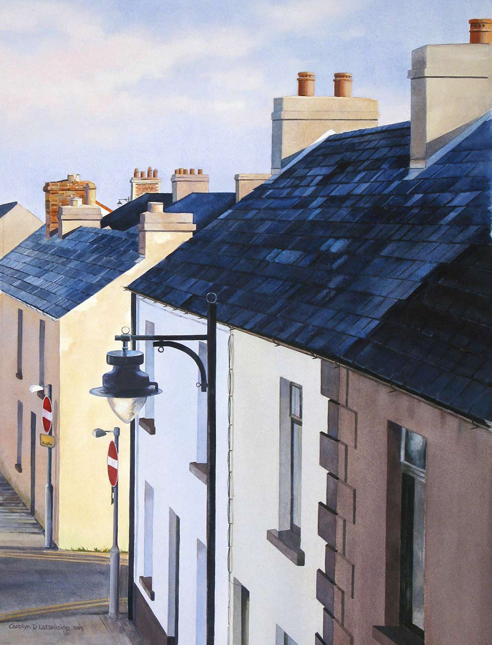 Captured Light, Antrim Coast | 23.5 x 17.7 watercolor