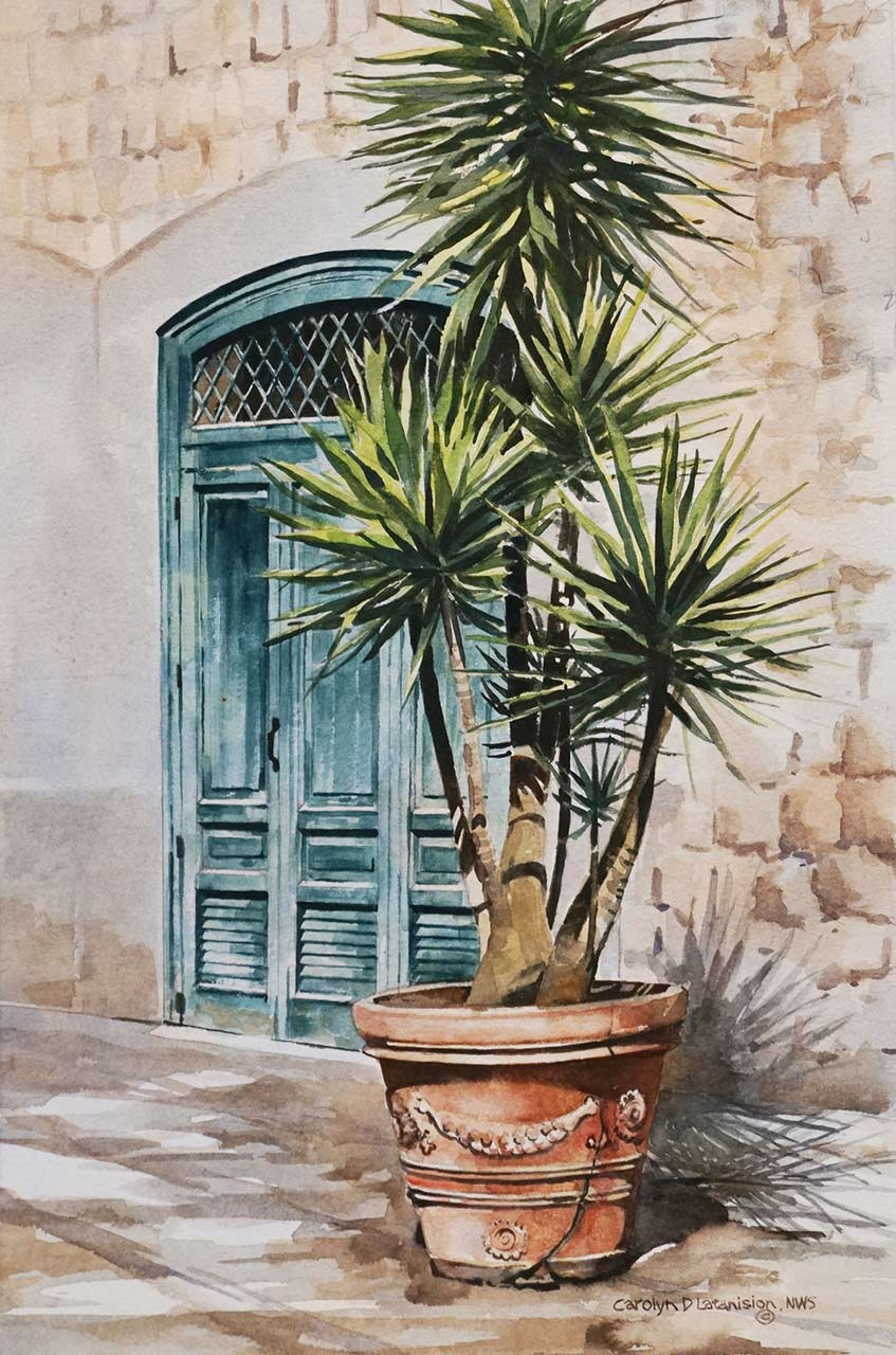 Castel dell'Ovo | 20.5 x 11 watercolor