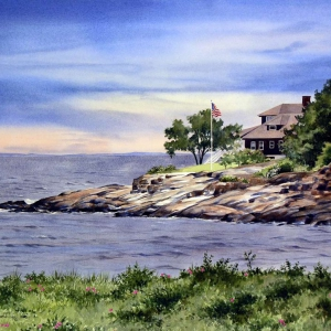 Eastern Point Breezes | 21 x 29 watercolor