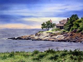 Eastern Point Breezes | 21 x 29 watercolor