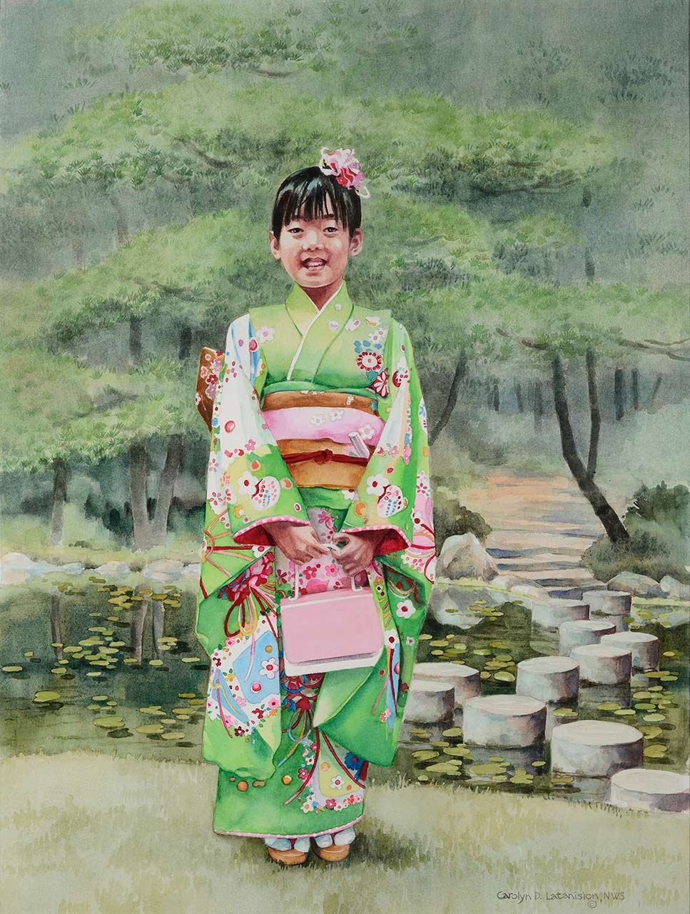Eriko | 23.5 x 17.5 watercolor SOLD