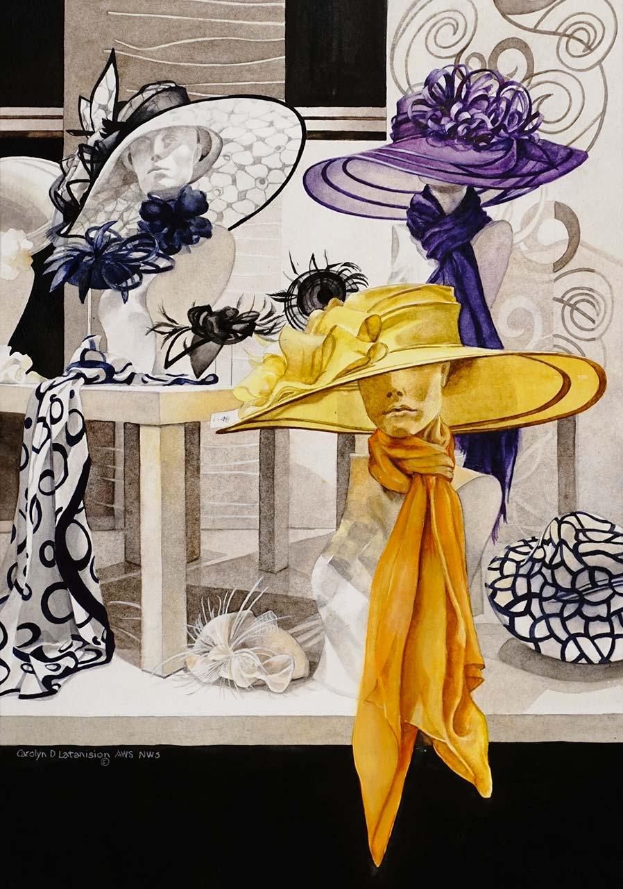 "Fascination   Watercolor 22"" x 25"""