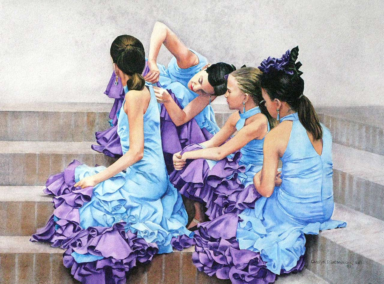 Flamenco Recital I – 15.5 x 20.5 watercolor SOLD