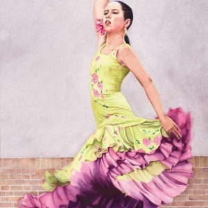 Flamenco Recital IV – 21 x 28 watercolor