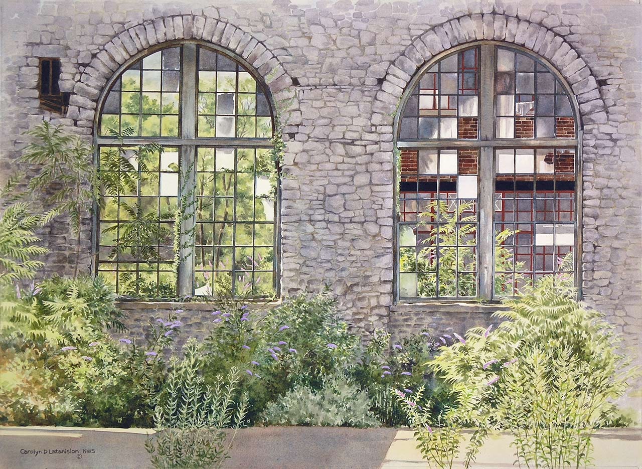 Foundry Windows | 21 x 29 watercolor SOLD