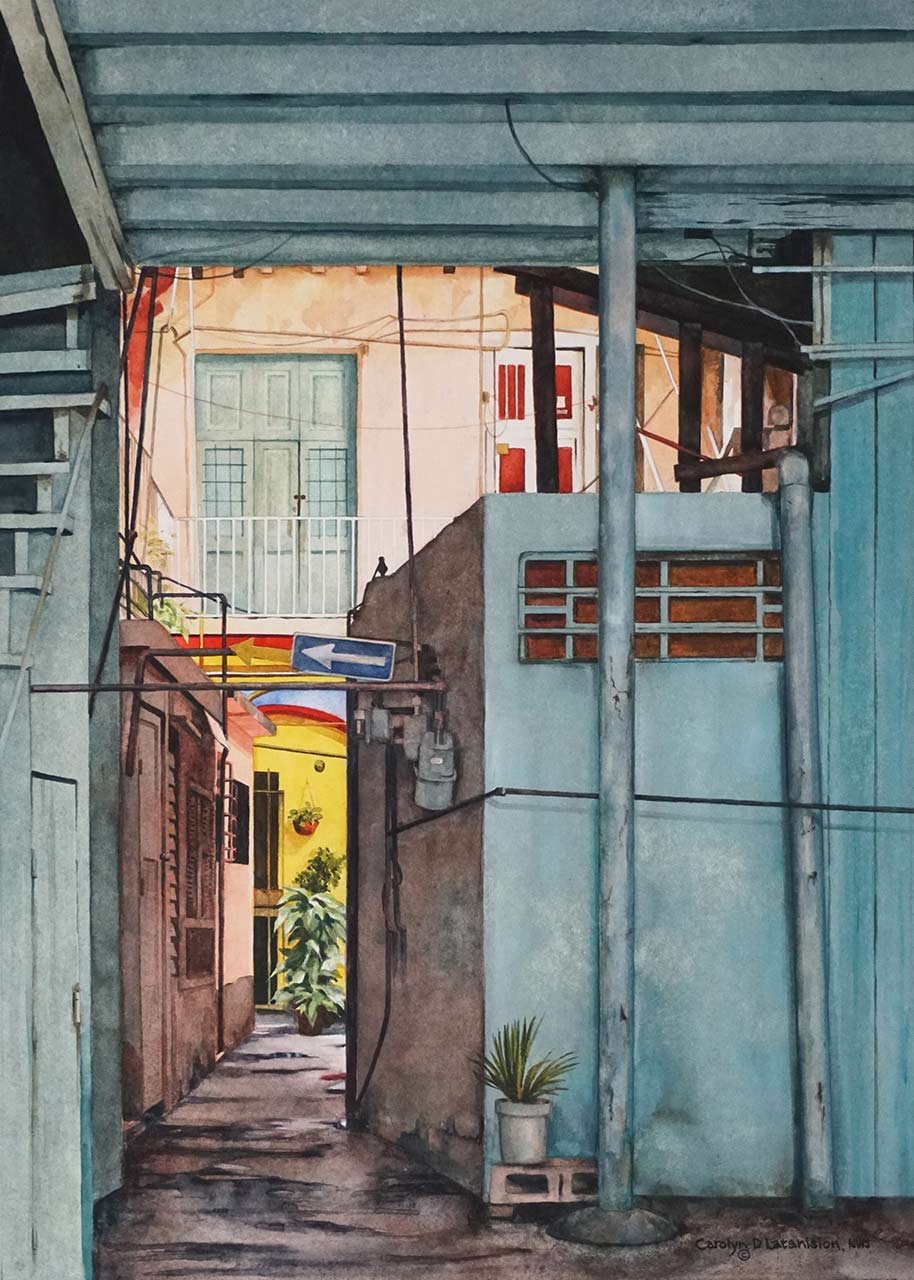 Home Portal, Havana Cuba | 21 x 15 watercolor