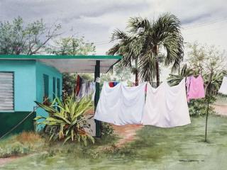 Impending Rain, Cuba | 21 x 29 watercolor