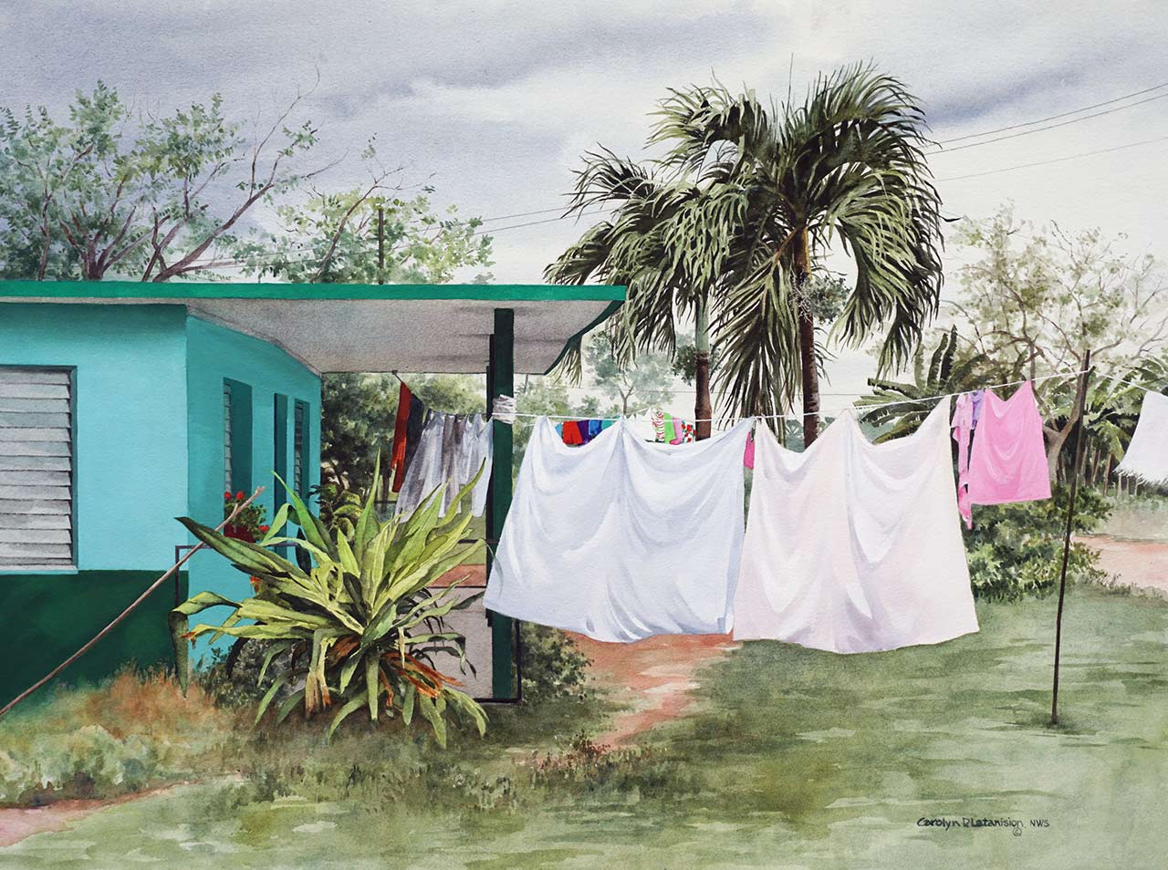 Impending Rain, Cuba | 21 x 29 watercolor