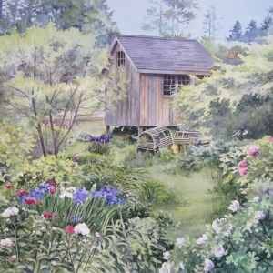 Monhegan Garden | 13.75 x 18.25 watercolor SOLD