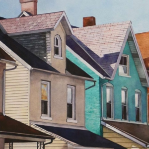 Neighbors | 16.25 x 26 watercolor