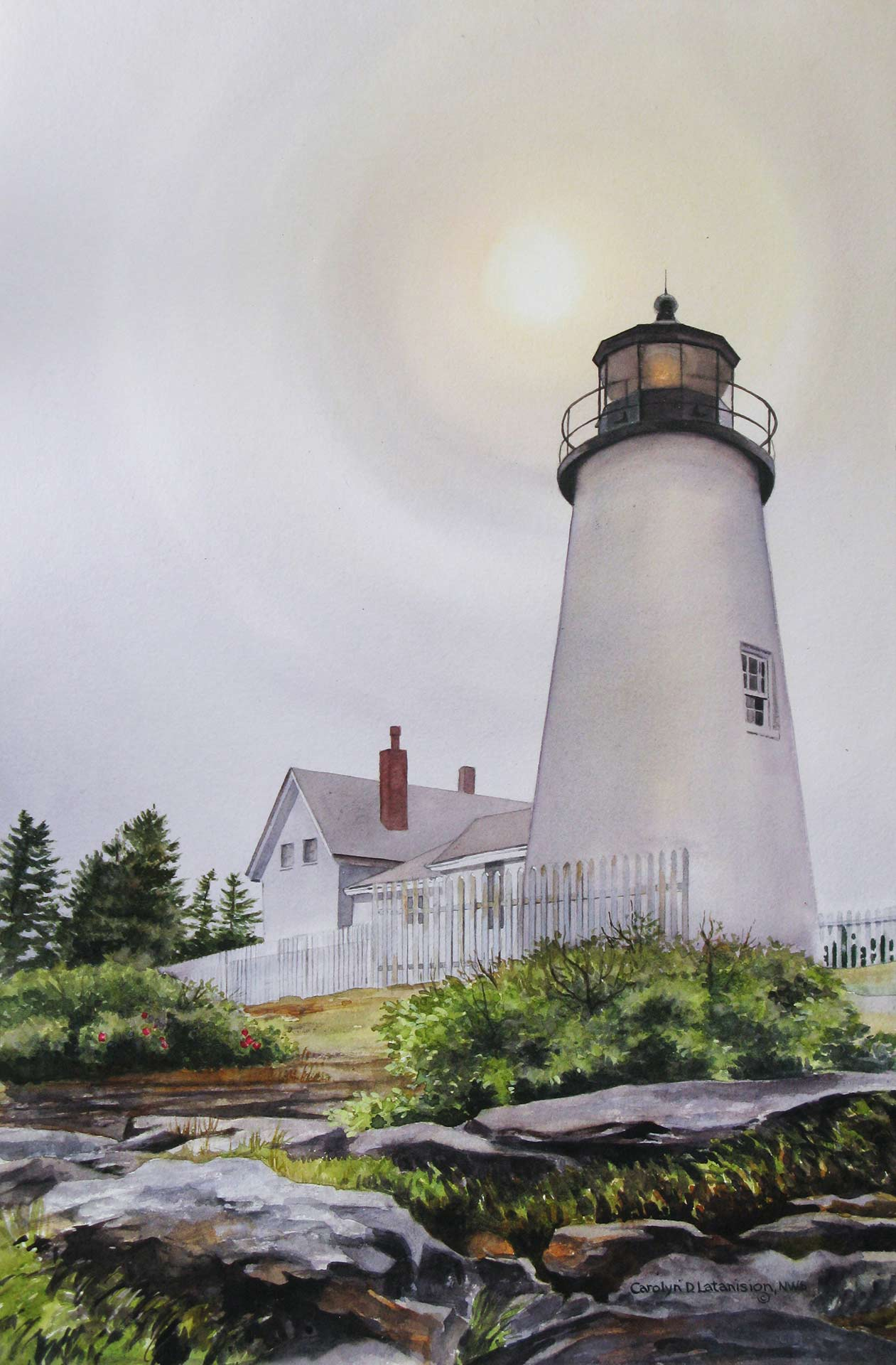 Pemaquid Point Light | 21.5 x 13.25 watercolor SOLD
