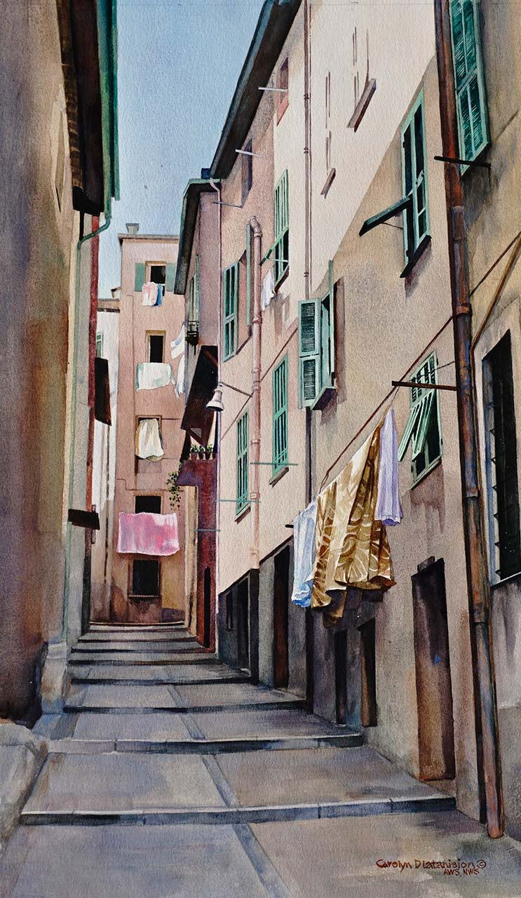 Villefranche Sur Mer #3 | 22.5 x 13 Watercolor (SOLD)